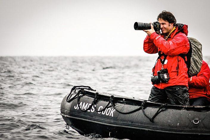 Fotojournalist und Autor Lutz Jäkel in der Arktis