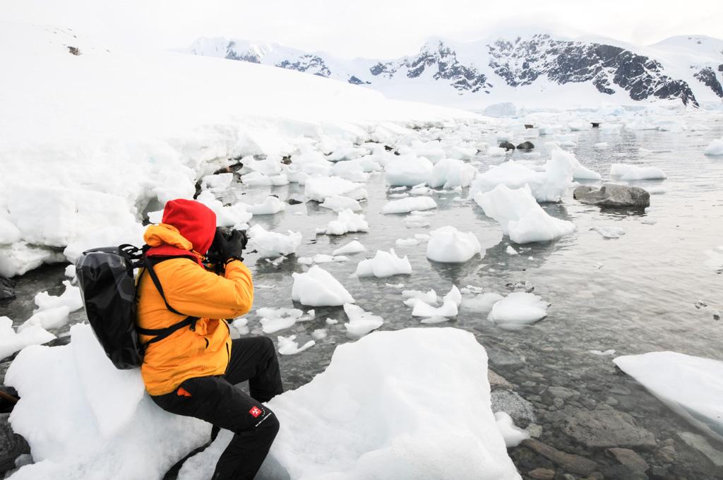 Fotojournalist und Autor Lutz Jäkel in der Antarktis