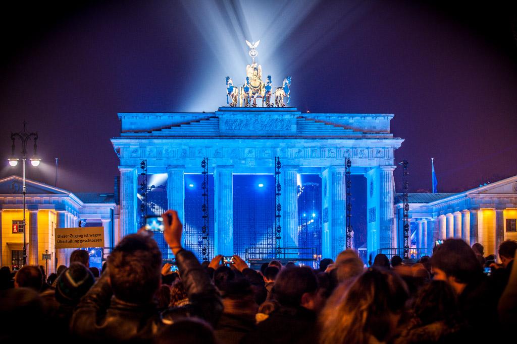 Berlin: 08.11.2014: 25 Jahre Berliner Mauerfall & Lichtgrenze. Brandenburger Tor