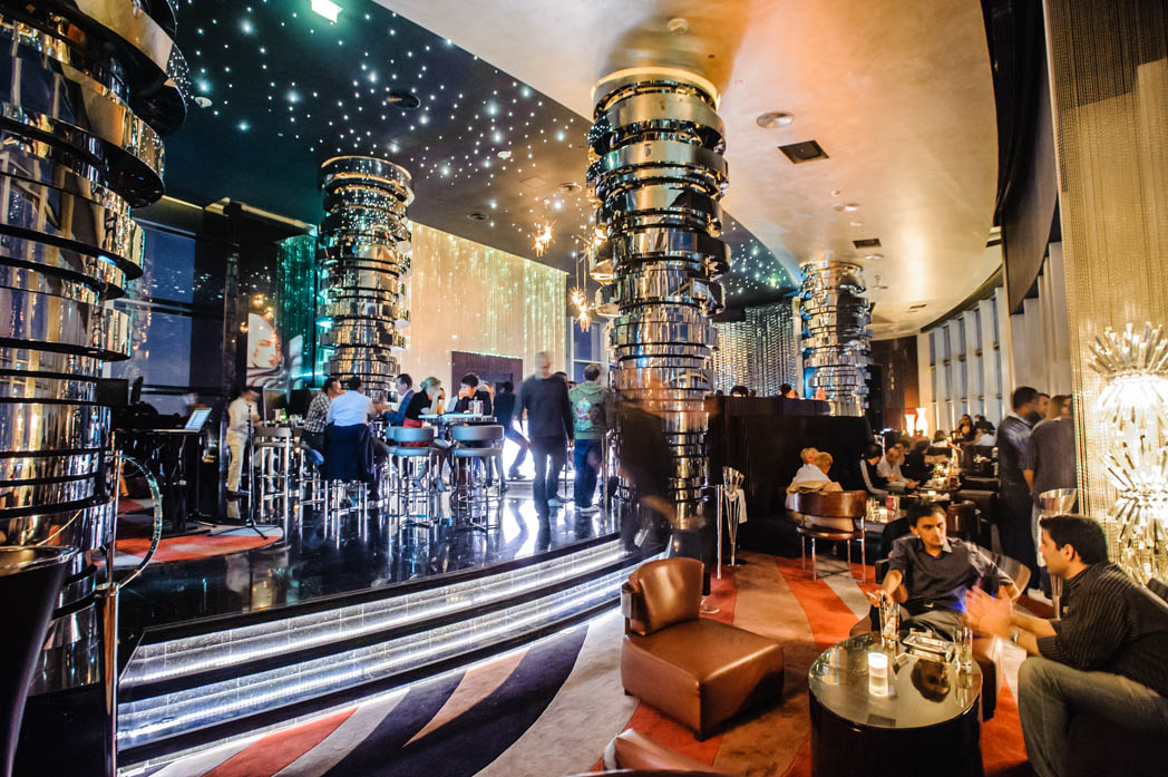 Vereinigte Arabische Emirate: Dubai. Jumeirah. Bar im Hotel The Address