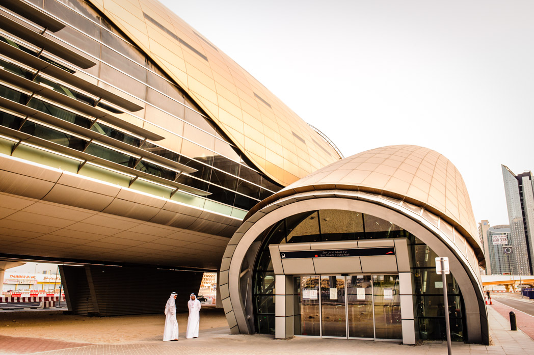 Vereinigte Arabische Emirate: Dubai. Jumeirah. U-Bahn Station