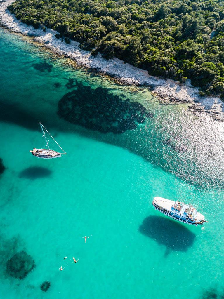 Drohne, Drohnenaufnahme mit DJI Mavic Pro. Kroatien
