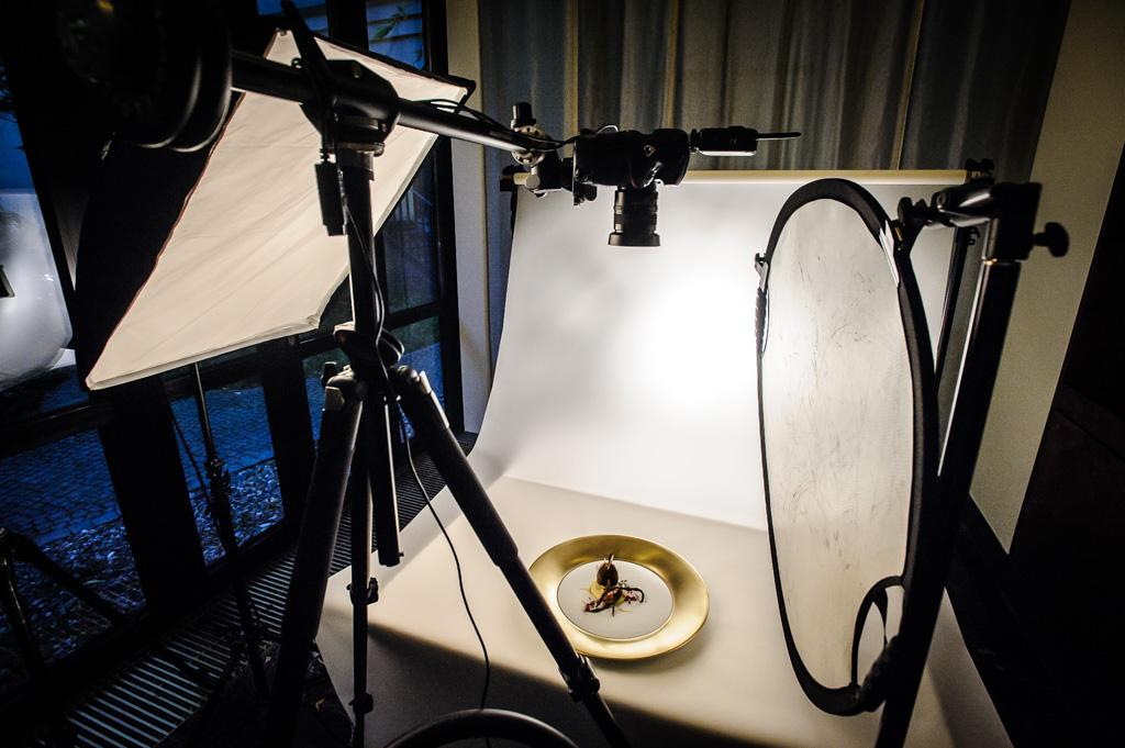 Set bei einem Food-Fotoshooting