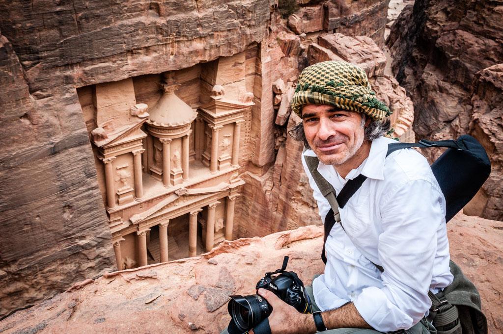 Fotojournalist und Autor Lutz Jäkel in Petra, Jordanien.