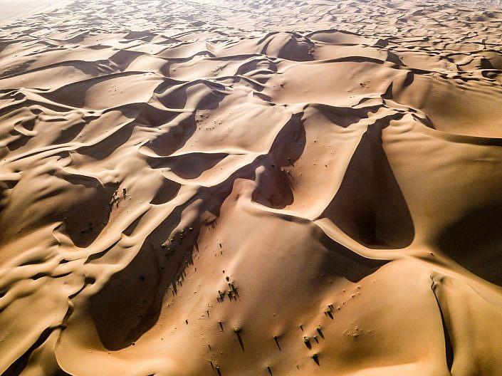 Abu Dhabi: Drohnenaufnahme über der Wüste Rub al-Khali