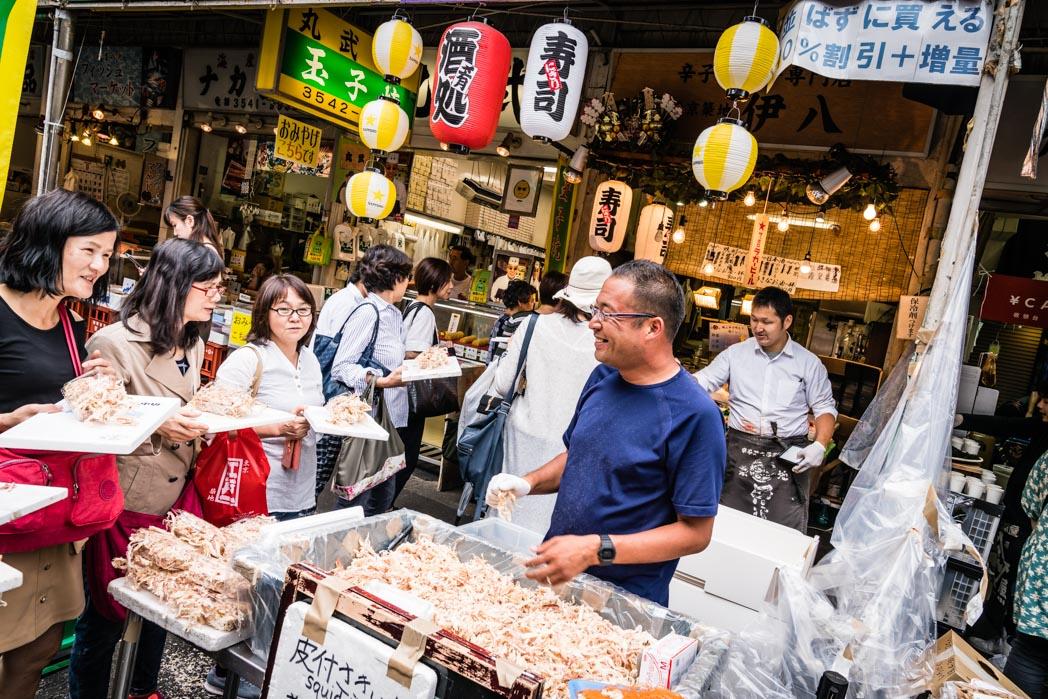 Tokio: Fischmarkt Tsukiji