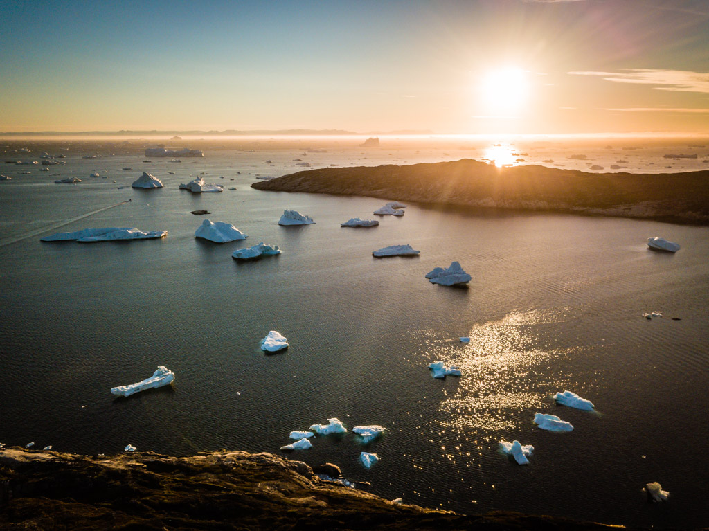 Drohne, Drohnenaufnahme mit DJI Mavic Pro. Grönland