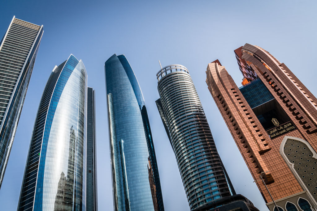 Abu Dhabi Corniche Skyscrapers