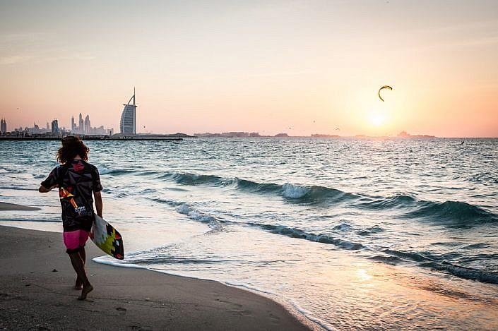 Vereinigte Arabische Emirate: Dubai. Strand. Beach. Burj al-Arab.