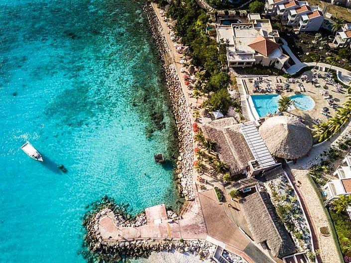 Drohne, Drohnenaufnahme mit DJI Mavic Pro. Curacao