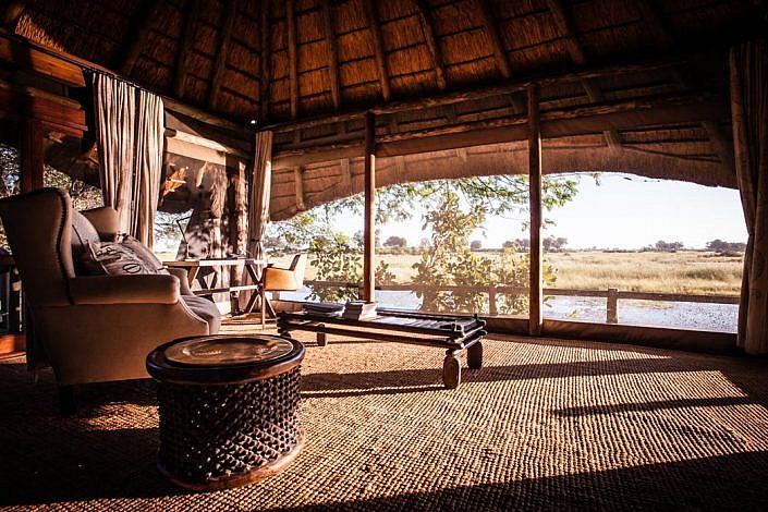 Botswana, Okavango Delta. Zimmer mit Aussicht