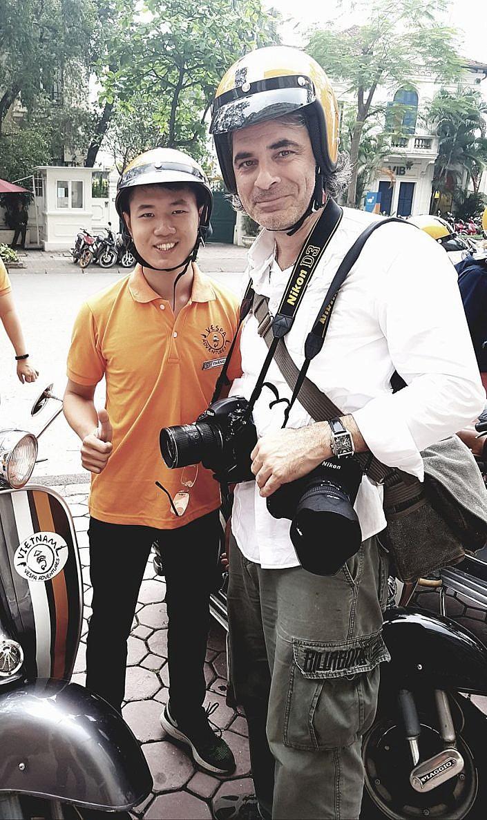 Fotojournalist und Autor Lutz Jäkel in Hanoi, Vietnam
