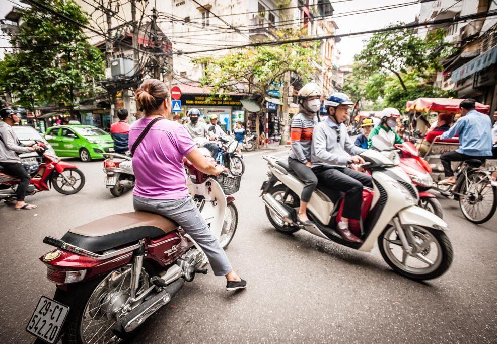 Mit der Vespa durch Hanoi