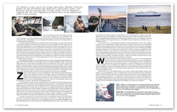 Patagonien / Travellers World Magazin
